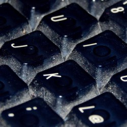 Keyboard with germs