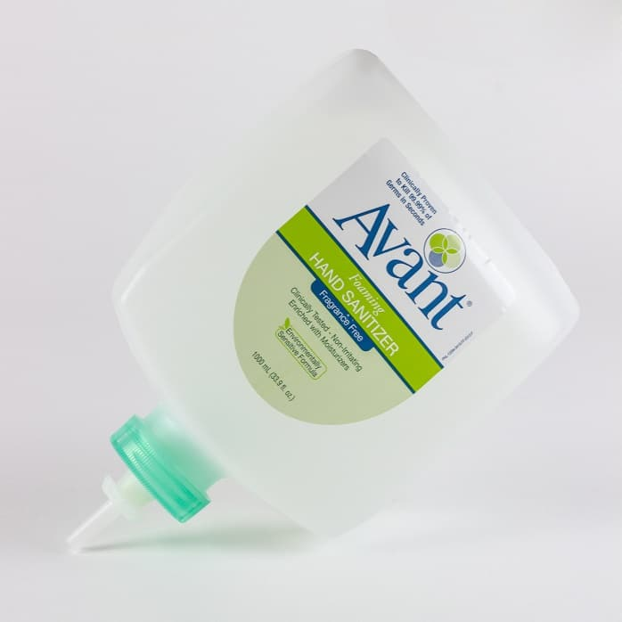 1000 mL Eco-Flex refill of Avant Original foaming instant hand sanitizer