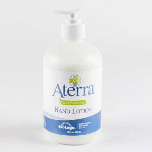 16.9 oz pump bottle of Aterra Eco-Premium hand lotion