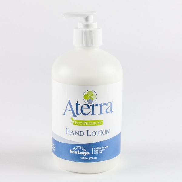 16.9 oz pump bottle of Aterra Eco-Premium hand lotion