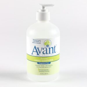 16.9 oz of Avant Original fragrance free instant hand sanitizer