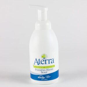 18 oz pump bottle of Aterra Eco-Premium sulfate-free foaming hand soap