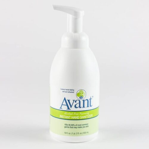 18 oz pump bottle of Avant alcohol-free foaming hand sanitizer