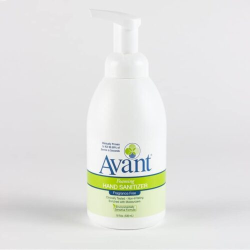 18 oz Avant foaming fragrance-free hand sanitizer