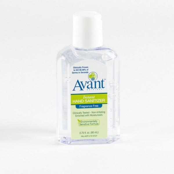2.75 oz bottle of Avant Instant Hand Sanitizer
