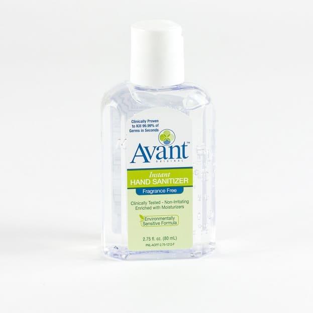 2 75 oz avant original fragrance free hand sanitizer