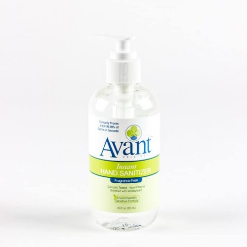 8.5 oz pump bottle of Avant Instant Hand Sanitizer. Available in bulk.