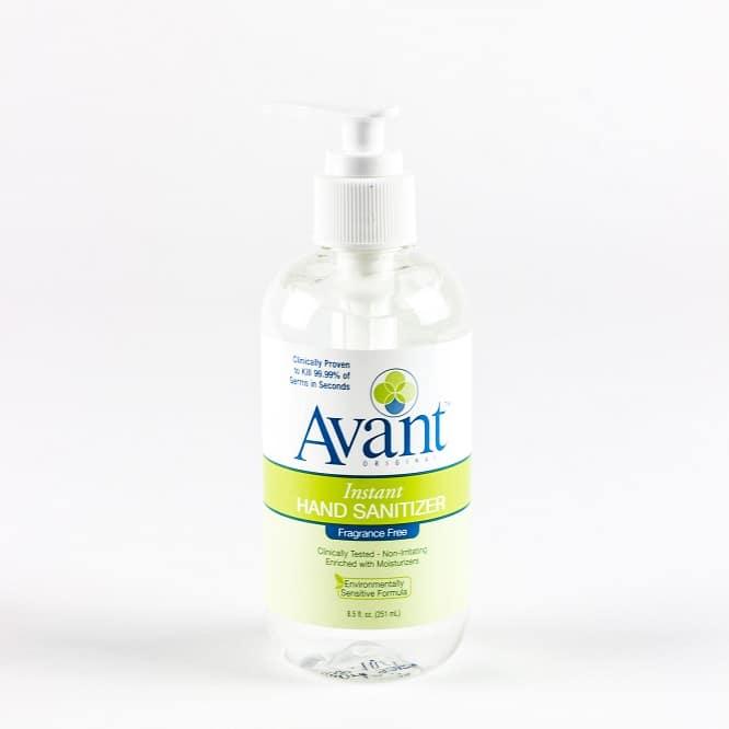 8 5 oz avant original fragrance free hand sanitizer