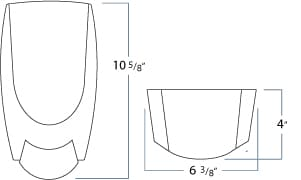Dimensions for 1000 mL Eco-Flex Manaul dispenser