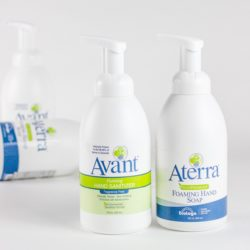 Avant and Aterra hand hygiene products