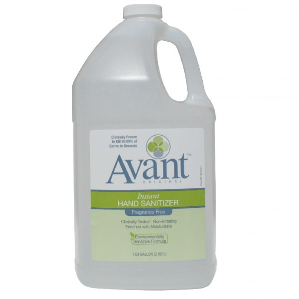 1 gallon bottle of Avant Original fragrance-free instant hand sanitizer