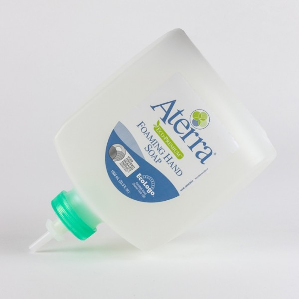 1000 mL Eco-Premium refill of Aterra Eco-Premium Foaming Hand Soap. Available in bulk.