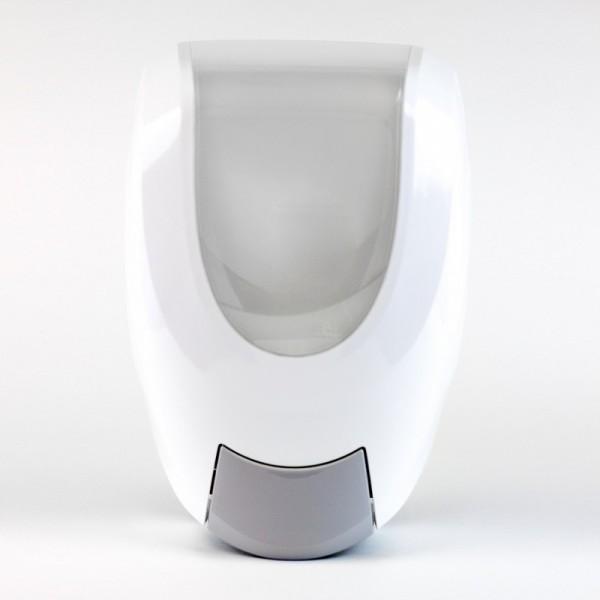 White 1950 mL manual Eco-Flex soap and sanitizer dispenser