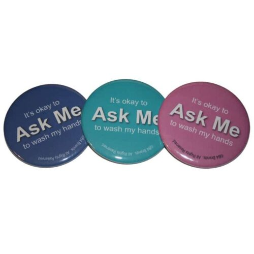 Ask Me to Wash My Hands buttons