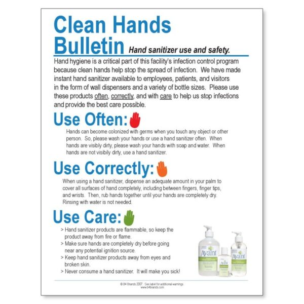 Clean Hands Bulletin posters, pack of 10