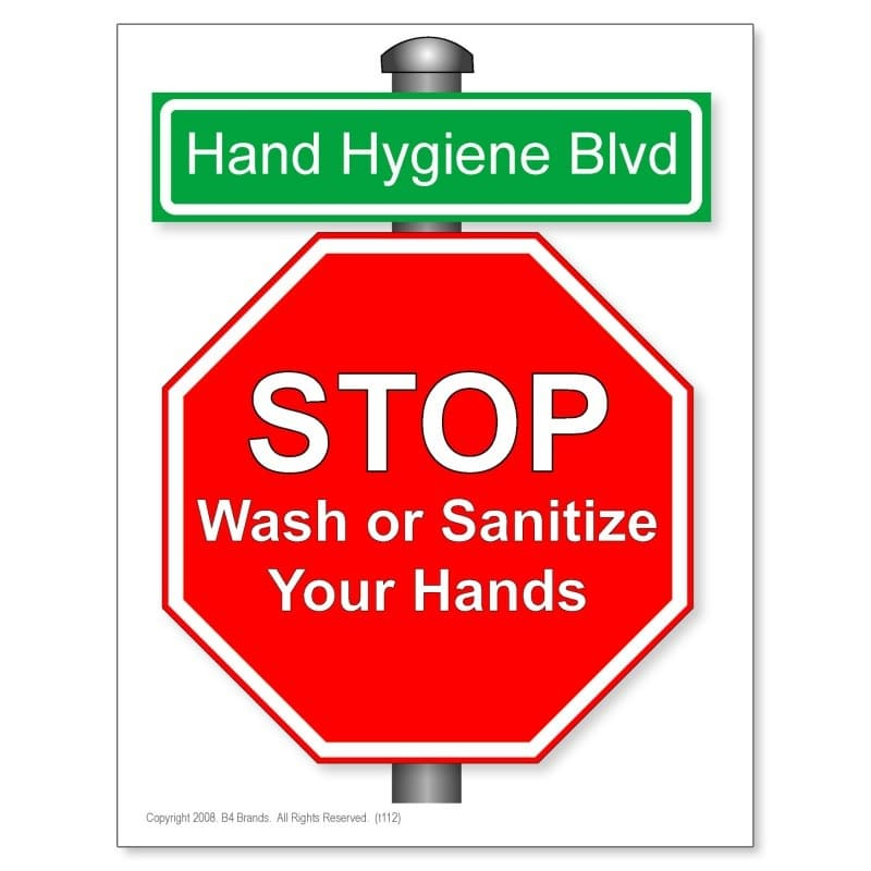 picture about Free Printable Hand Washing Posters referred to as Hand Cleanliness Blvd Poster (10-Pack)