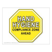 Hand Hygiene Compliance Zone Ahead posters, 10-pack