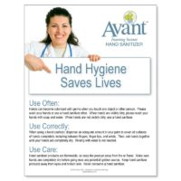 Hand Hygiene Saves Lives poster. Pack of 10.