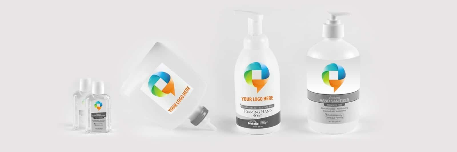 Private labeling for hand sanitizer, hand soap, lotion and dispenser refills