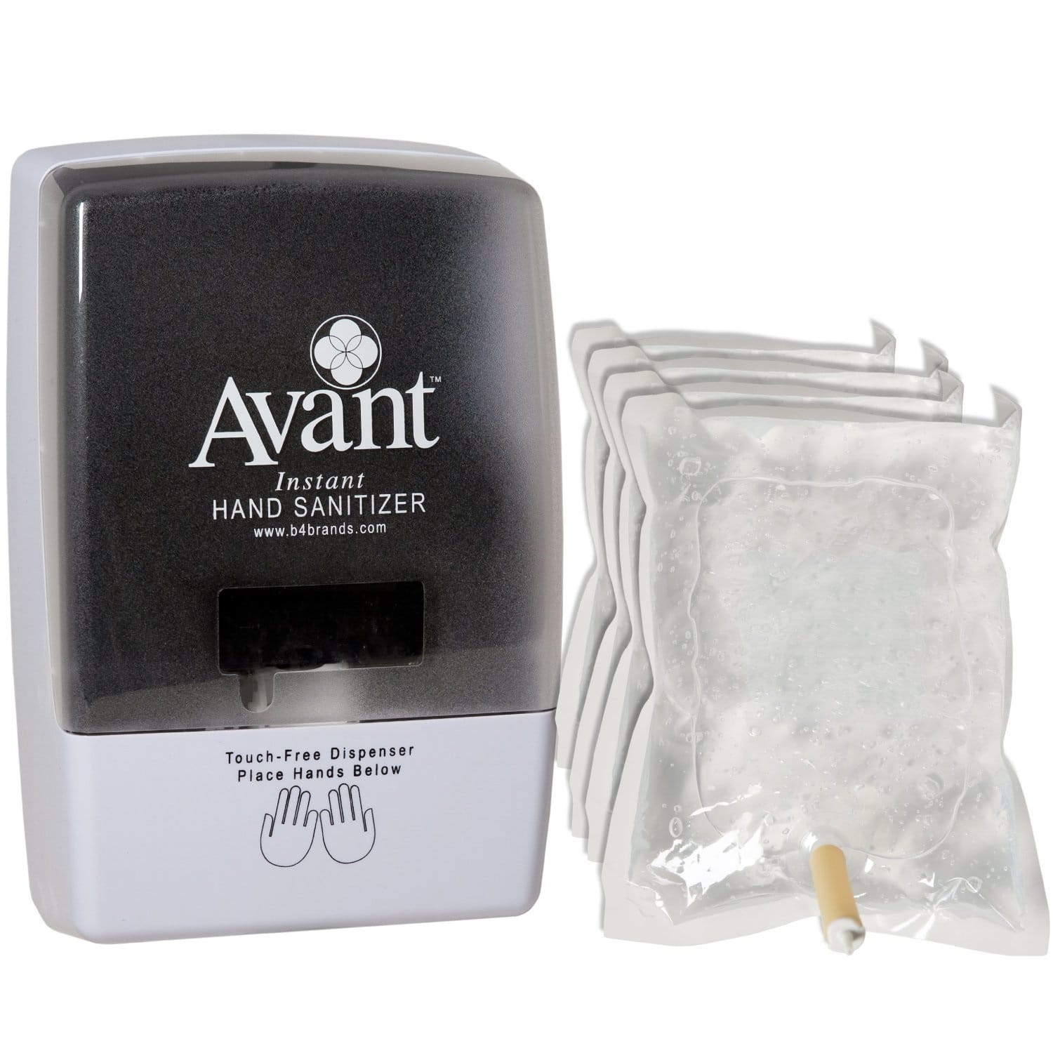 Free 9370 automatic dispenser with the purchase of (4) Avant hand sanitizer refills.