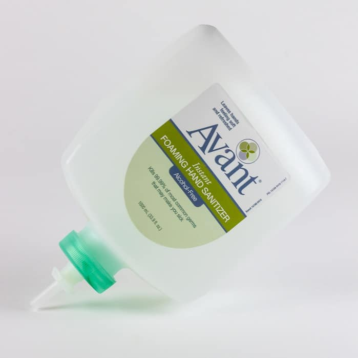 1000 mL Eco Flex Refill - Avant Alcohol-Free Foaming Instant Hand Sanitizer. Available in bulk quantities.