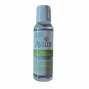 2-ounce bottle of Avant hand sanitizer
